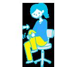 腰椎・股間節のストレッチ