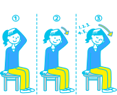 首の筋肉を伸ばす体操