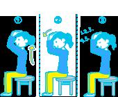 首の前屈体操